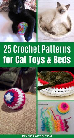 Cat owners everywhere will love this list of crochet cat toys and crochet cat beds!  So many fun and easy patterns to create for your furry friend! Follow these easy DIY crochet cat toy patterns that are perfect for any cat or kitten. #Cats #Kittens #CrochetPatterns #DIYCrochet #CatToy #Crocheting #Crochetlife Diy Crochet Cat, Quick Crochet Gifts, Diy Crochet Patterns, Crochet Bunny Pattern, Easy Patterns, Crochet Toys, Crochet Summer, Crochet Projects To Sell, Diy Cat Toys