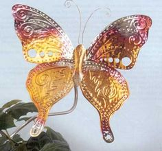 Craft Project Ideas | Projects - ButterFly Garden Stake