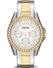 Silver, gold, and bling. Fossil Watch, Women's Riley Two Tone Stainless Steel Bracelet - Women's Watches - Jewelry Watches - Macy's Stainless Steel Watch, Stainless Steel Bracelet, Gold Models, Fossil Watches, Women's Watches, Wrist Watches, Fashion Watches, Women's Fashion, Ladies Fashion