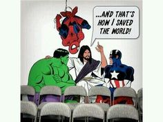Jesus, the real Superhero. I kinda think that is part of the reason everyone is so into super-hero movies.they subconsciously know we need Jesus. PREACH IT. Funny Christian Memes, Christian Humor, Christian Comics, Christian Cartoons, Christian Friends, Christian Life, Humor Cristiano, Jw Humor, Bibel Journal