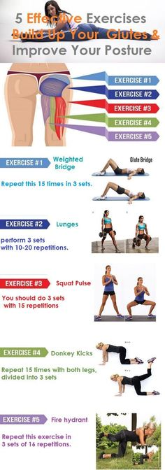 Build Up Your Glutes, Lose Weight and Improve Posture With These 5 Exercises