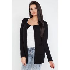 Cardigan scurt de dama de culoare neagra Cardigan, Sport, Casual, Sweaters, Fashion, Tricot, Moda, Deporte, Fashion Styles