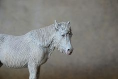 'Albina' 20 year old Icelandic horse made by Harriet Knibbs Sculptures Ltd