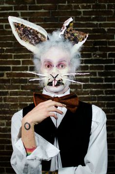 White Rabbit, Student #Scarytales #Halloween make-up competition. Photo by David Costa http://navalha.net/