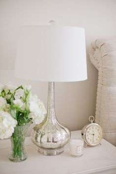 #silver, #home-decor, #lamp, #metallic  Photography: Christine Choi Photography - www.christinechoi.com/