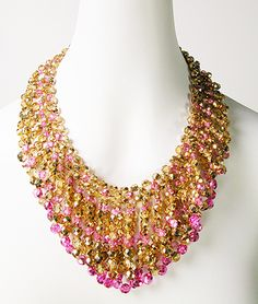 Sparkling draped Loop Collar