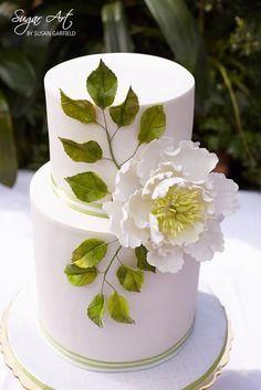 Open Peony - Sugar Flower - by SugarArtBySusan @ CakesDecor.com - cake decorating website