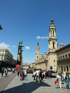 Plaza del Pilar en Zaragoza, Aragón