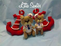 Ursinhos Baby Marinheiros e Ancoras - encomenda da Liliane