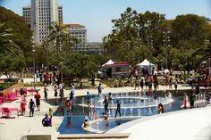 Grand Park, downtown -- near City Hall, Justice Center, Hall of Records, Law Library, Courthouse, and The Music Center
