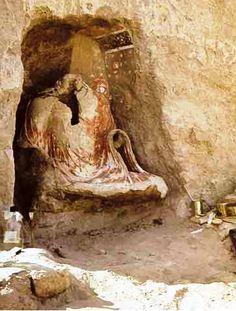 Buddhist Cult Center Kara-Tepa Historical monuments of Termez and the Surkandarya region Uzbekistan.