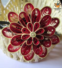 Quilled flowers for hair-bands