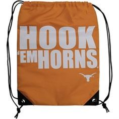 9c48e1cbf2 Texas Longhorns Slogan Drawstring Backpack - Burnt Orange Texas Gifts