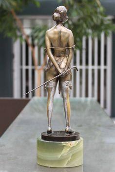 """""""The Riding Crop"""" Bronze Sculpture by Bruno Zach 3"""