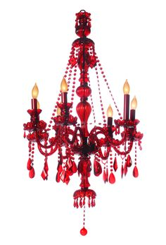 Red Chandeliers, I need this!!!!