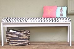 Chevron Stripe Bench Cover