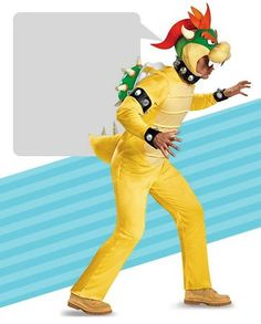 Bowser Costume  sc 1 st  Pinterest & Adult Nintendo Super Mario Bowser Deluxe Costume #LavaHot http://www ...
