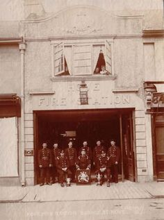 Archive photograph of Hove Fire Station when it was based in George Street, Hove New Brighton, Brighton And Hove, Old Photos, Vintage Photos, Worthing, East Sussex, Vintage Travel Posters, Archive
