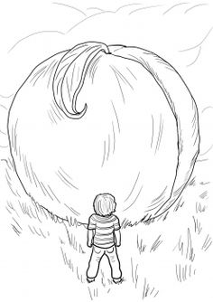 James and the Giant Peach coloring page | Super Coloring