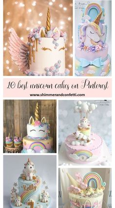 Our 10 most dazzling and incredible unicorn cakes on Pintere Unicorn Themed Birthday Party, Unicorn Party, Girl Birthday, Unicorn Birthday Cakes, Birthday Ideas, Unicorne Cake, Cake Fondant, Pinterest Cake, Cake Table Decorations