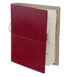 Filofax Domino A5 Organiser Red Smooth Leather Look with Four Credit Card Pocket…