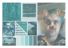 """""""Michael Beautiful Clifford"""" by sahiarat ❤ liked on Polyvore featuring Polaroid, Blue, michaelclifford and 5secondsofsummer"""