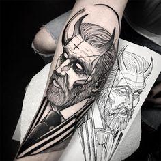 Devil tattoo art by Fredao Oliveira