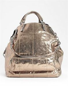 Brand New Dolce   Gabbana Metallic Snake Shoulder Bag- Made in Italy Review Buy Now
