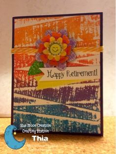Welcome to the Crafty Card Gallery: Happy Retirement Card