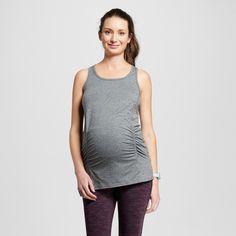 Women's Maternity Performance Long Tank Top - Dark Gray Heather Xxl - C9 Champion