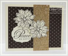 Connie has used a neutral palatte for her stunning Watercolor Winter card! I can see this done in Cherry Cobbler or Bravo Burgundy too.