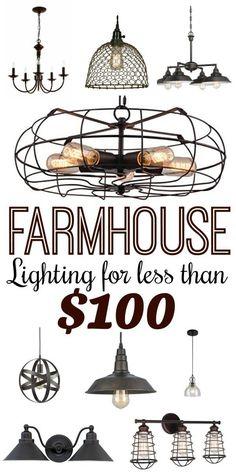 Modern Farmhouse Style Lighting for Less than $100
