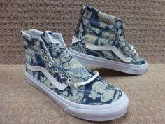 Vans-Men-039-s-Shoes-034-Sk8-Hi-slim-Zip-034-Indigo-Tropical-Blu-TrWht