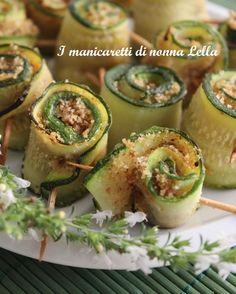 Rose di zucchina. I manicaretti di nonna Lella http://blog.giallozafferano.it/graziagiannuzzi/rose-di-zucchina/