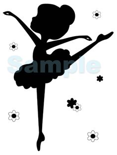 BALLERINA SILHOUETTE WALL MURAL BABY GIRL NURSERY KIDS ROOM STICKER DECALS DECOR $17.99 #decampstudios
