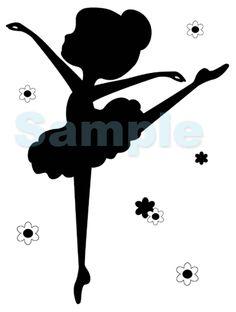 BALLERINA SILHOUETTE WALL MURAL BABY GIRL NURSERY KIDS ROOM STICKER DECALS DECOR $17.99 #decampstudios