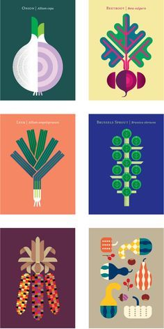 This graphic illustration of vegetables is so bold and unique