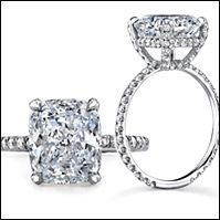 Love this ring from the side (just sub in a round diamond!)