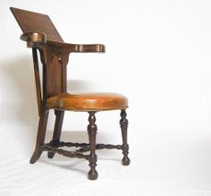 Early Eighteenth Century Oak Reading Chair or Cock Fighting Chair | jasonclarkeltd - Antique Vintage Decor