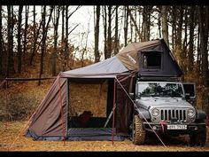 Ingenious Car Inventions Jeep Camping, Jeep Wrangler Camping, Wrangler Pickup, Jeep Jk, Jeep Wrangler Unlimited, Jeep Truck, Camping Glamping, Camping Tips, Expedition Truck
