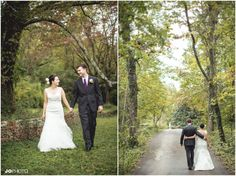 Love this eco wedding! Beautiful fall wedding in Tennessee - click to view more from this wedding at Ijams Nature Center in Knoxville TN.