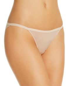 On Gossamer Sheer Bliss String Bikini - Champagne