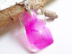 Bright Pressed Flower Resin Pendant  Real by ValenwoodVixen, $28.00