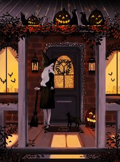 All Hallows Eve every day halloween dibujos Witch come home by Chriss-art on DeviantArt Retro Halloween, Halloween Tags, Holidays Halloween, Halloween 2019, Halloween Stuff, Costume Halloween, Halloween Makeup, Halloween Decorations, Halloween Illustration