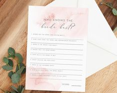 Does She Know Him Bridal Shower Games Printables Bridal Printable Bridal Shower Games, Bachelorette Party Games, Types Of Printer, Wedding Games, Kraft Paper, Printables, Prints, Etsy, Wedding Matches