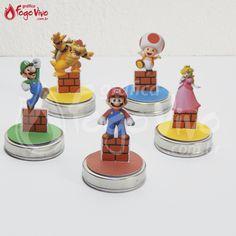 Tags Topper p/ latinha Super Mario Bros. Link: http://www.graficafogovivo.com.br/loja/shapes/kits-digitais/kit-digital-super-mario-bros.html