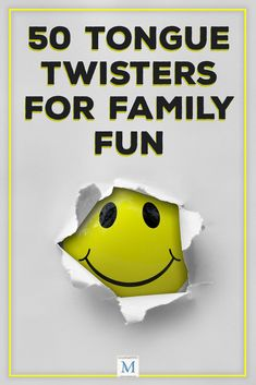50 Tongue Twisters for Family Fun Home Games For Kids, Family Fun Games, Family Fun Night, Indoor Activities For Kids, Toddler Activities, Indoor Games, Summer Activities, Outdoor Activities, Funny Tongue Twisters