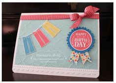 2013 SAB  Patterned Occasions stamp set, Cloudy Day TIEF,  Stitched Sating Ribbon    Rose's World: Sale-a-Bration is HERE!