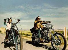Easy Rider, Starring: Jack Nicholson, Peter Fonda and Dennis Hopper.