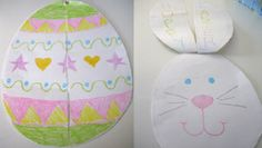 Easter Egg Magic Trick- easy paper crafts for kids to make during Easter! What a fun Easter art project. Easter Arts And Crafts, Easter Egg Crafts, Bunny Crafts, Paper Crafts For Kids, Crafts For Kids To Make, Preschool Crafts, Easter Eggs, Craft Activities, Bunny Coloring Pages